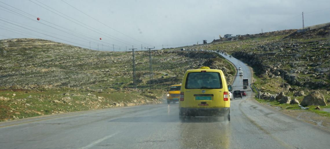 Deszczowy dzień w Palestynie