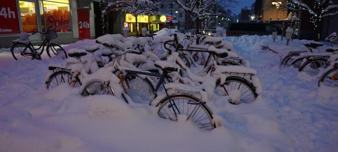 Śnieg w Rovaniemi