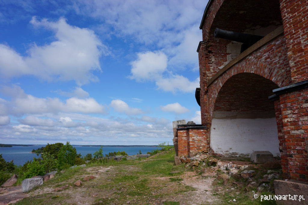 Pozostałości twierdzy w Bomarsund