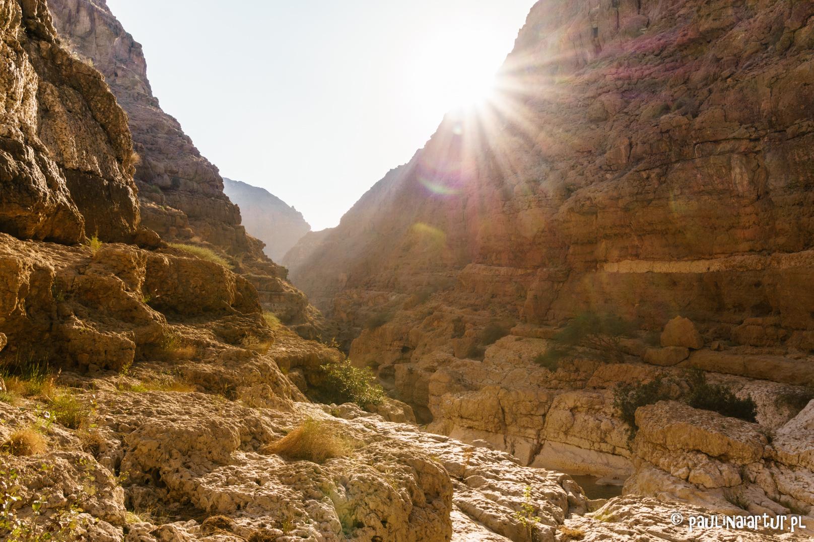 Zachód słońca w Wadi Shab